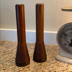 Vintage Wooden Candlesticks